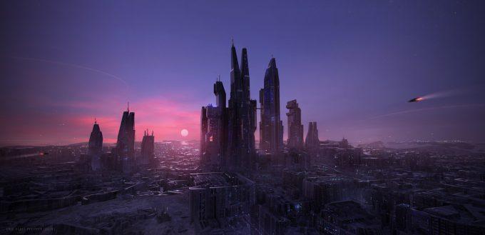 Eric Pfeiffer Concept Art Illustration city scene
