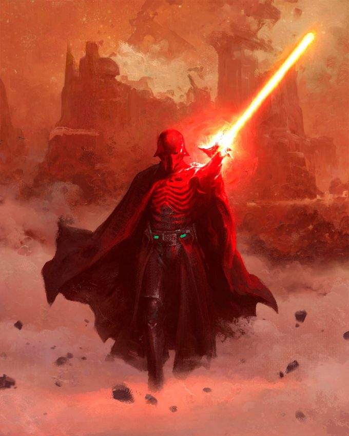 Star Wars Myths and Fables Vader Painting by Grant Griffin