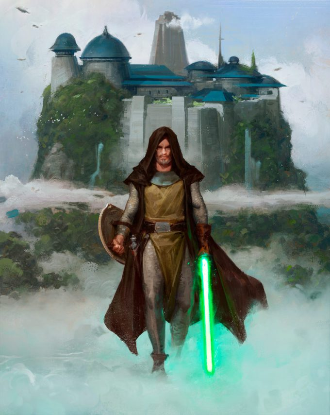 Star Wars Myths and Fables Wanderer Painting by Grant Griffin