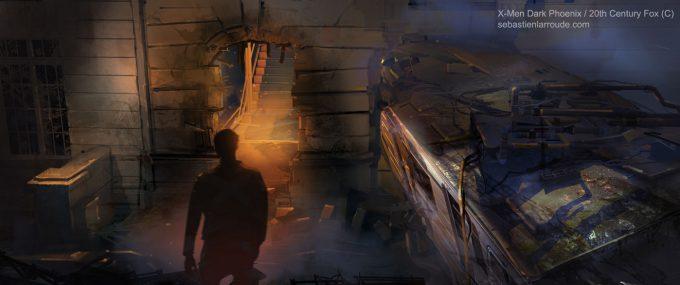 X Men Dark Phoenix Concept Art S Larroude Mood Layout Lighting