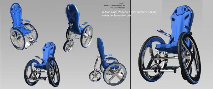 X Men Dark Phoenix Concept Art S Larroude WheelChair02 Design