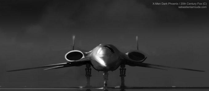 X Men Dark Phoenix Concept Art S Larroude X Jet BW Sketch