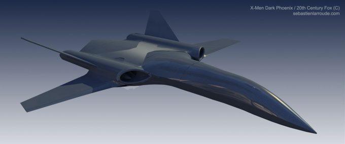 X Men Dark Phoenix Concept Art S Larroude X Jet Proto