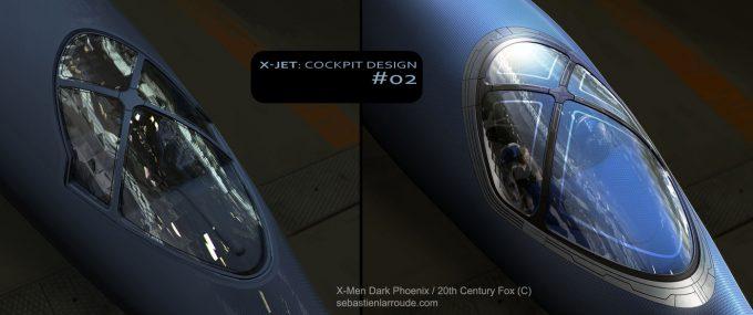 X Men Dark Phoenix Concept Art S Larroude XJet CockpitDesign 02
