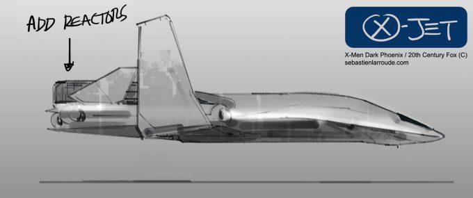 X Men Dark Phoenix Concept Art S Larroude XJet Sketch02b