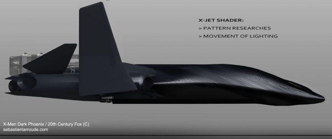X Men Dark Phoenix Concept Art S Larroude XJet Sketch Proto Shader02b