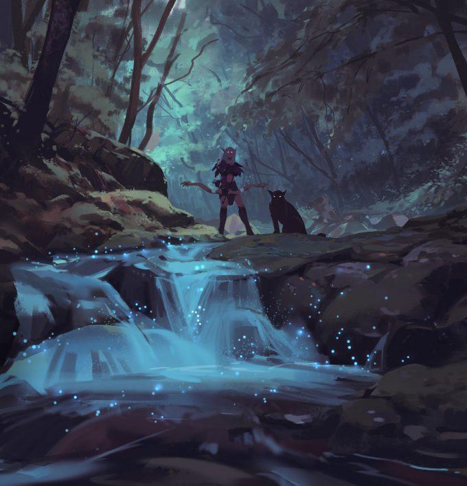 atey ghailan Night elf hunter in Ashenvale 4