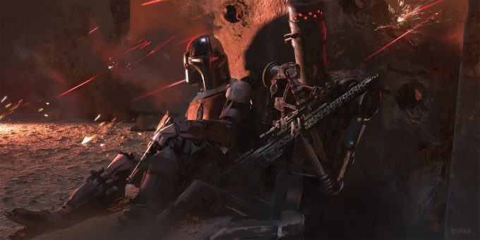 Star Wars The Mandalorian Concept Art Nick Gindraux 02