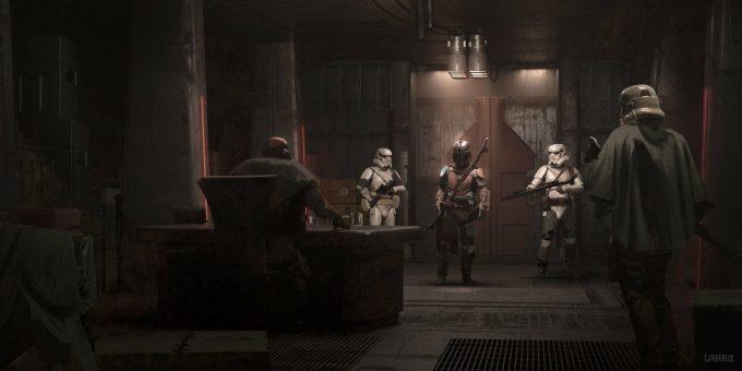 Star Wars The Mandalorian Concept Art Nick Gindraux 03